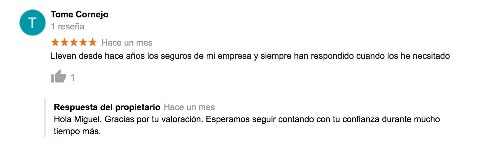 Valoraciones y opiniones sobre Ponce y Mugar, correduría de seguros Madrid