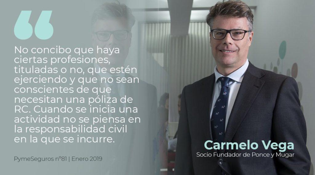 Carmelo Vega Ponce, socio fundador de Ponce y Mugar, correduría de seguros Madrid.