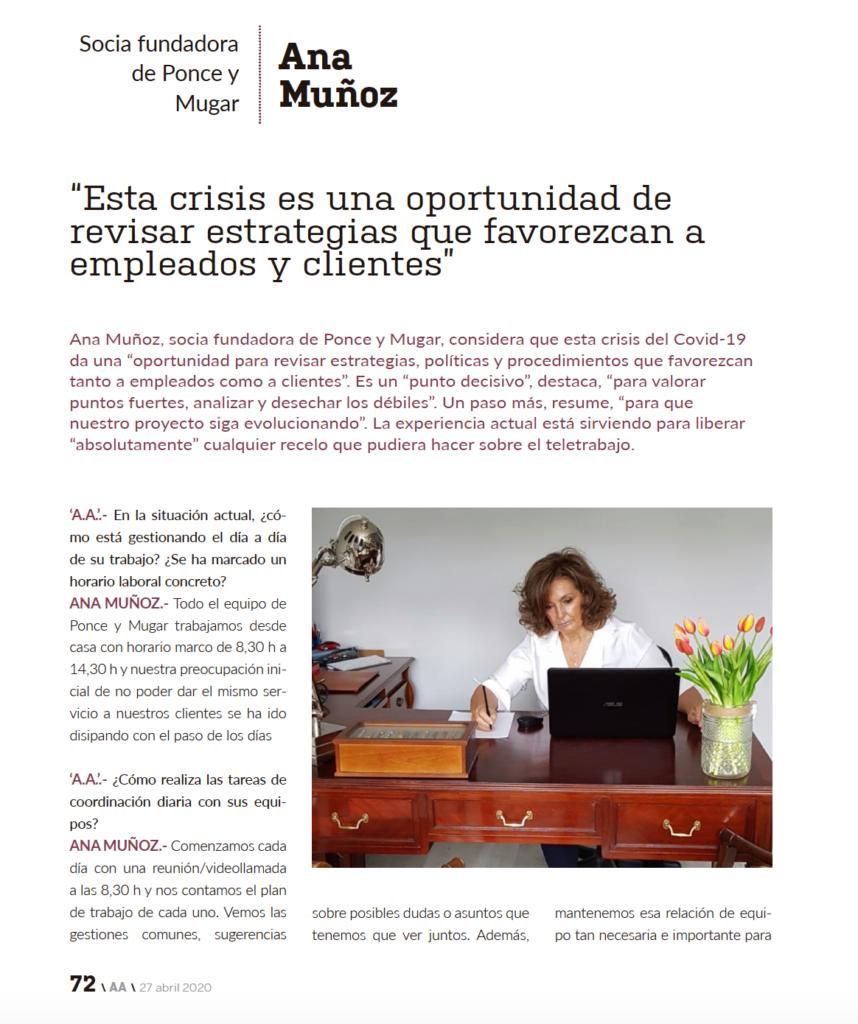 Entrevista Inese Ana Muñoz Ponce y Mugar Correduría de seguros