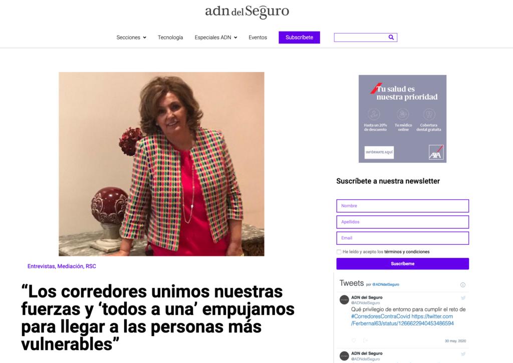 Entrevista Adn del Seguro a Ana Muñoz Ponce y Mugar Correduría de seguros